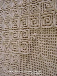 Interesting idea for a crochet rug. Could even do different designs and colors.