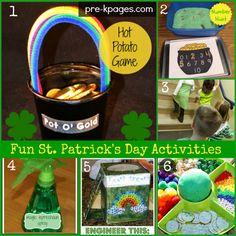 Fun St. Patrick's Day Activities for Kids #preschool #kindergarten