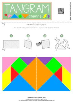 Reversible Tangram - Free printable template! - http://www.tangram-channel.com/tangrams-to-cut-out/