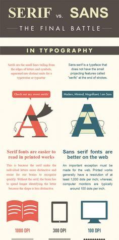 Great #infographic: Serif vs Sans: The Final Battle