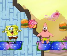 Help Spongebob And Patrick to collect all their food. The Spongebob collects Crab package and Patrick collects Fried Coral. After collecting all their food, you need to help them to arrive in the corresponding pipe outlet to escape. Spongebob Patrick, Online Games, Games For Kids, Kids Girls, Coral, Free, Games For Children