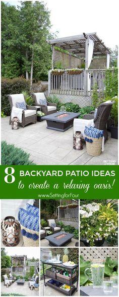 Outdoor Patio Ideas, Patio Furniture and Backyard Decor Backyard Patio, Backyard Landscaping, Backyard Furniture, Outdoor Furniture, Outdoor Bar Cart, Outdoor Bars, Outdoor Living, Outdoor Decor, Outdoor Ideas