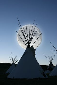 Full moon and tipi.  Thank you Paul, for all of the wonderful fires and celebrations!