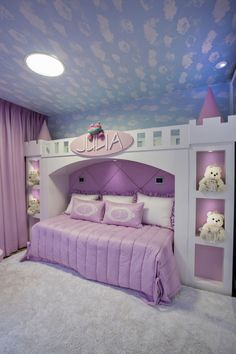 I want this bedroom! A room should never allow the eye to settle in one place. It should smile at you and create fantasy home decor decoration salon decoration interieur maison Baby Bedroom, Bedroom Sets, Room Decor Bedroom, Kids Bedroom Designs, Kids Room Design, Dream Rooms, Dream Bedroom, Fantasy Bedroom, Princess Bedrooms