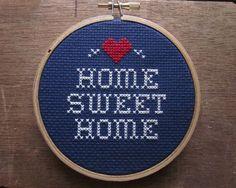 Home Sweet Home - Cross Stitch, Xstitch, Pattern, Craft, Hand Made, Kanaviçe, Etamin, Çarpı işi, Şablon, Elişi - Bu kanaviçeye ait şablonu görmek için www.xstitchetc.com 'u ziyaret edin.