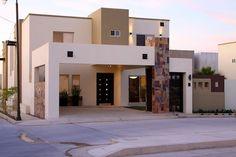 Risultati immagini per fachadas de piedra modernas Modern House Facades, Modern House Design, Plans Architecture, Architecture Design, Style At Home, Ultra Modern Homes, Villa, 3d Home, Facade House