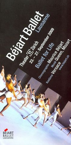 BÉJART BALLET LAUSANNE 2009 - ORIGINAL FLYER - VERSACE QUEEN MOZART. Sensationell, einzigartig!!!