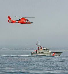 U.S. Coast Guard Station Morro Bay conducts helicopter operations with a nearby air station.