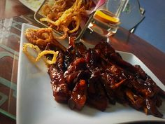 Sticky Bbq Ribs + Onion Rings / My Version by Mrs Admin ( Mashuda)