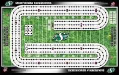Frameworth Saskatchewan Roughriders Cribbage Board, Black, Games AD-The perfect gift Go Rider, Saskatchewan Roughriders, Canadian Football League, Cribbage Board, Rough Riders, Woodworking Projects That Sell, Projects To Try, Boards, Gift