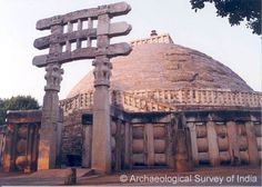Southern Torana with Stupa, Sanchi - An inscription on the southern gate says that the Toranas were carved by ivory carvers of Vidisha. There are four such carved gateways in four cardinal directions, depicting life scenes of Buddha and Jataka stories. These toranas (gateways) became so popular outside the country that it would be interesting to note that in Japan ornamental gateways are still known as 'tors'.