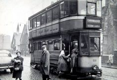 Old type Glasgow Tram. Known to us the Caurs. Glasgow Scotland, Scotland Travel, Edinburgh, Uk History, Local History, Scottish People, Glasgow City, The Second City, Light Rail