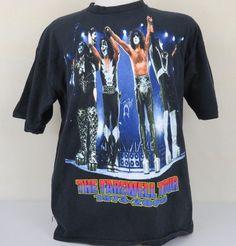 Kiss Farewell Tour XL T-Shirt Shoreline Amphitheater July 2000 I Was There  #AllSportEvents #CrewNeckShortSleeveTshirt