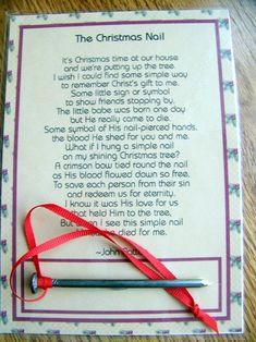Christmas nail ornament reason for the season christmas poem | Etsy