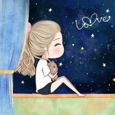 I love it tonight Without dark we will never see the star✨ Cute Couple Cartoon, Cute Love Cartoons, Anime Love Couple, Cute Anime Couples, Girl Cartoon, Cartoon Art, Mode Poster, Wallpaper Fofos, Cute Couple Wallpaper