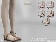 Madlen Alvaro Shoes Come in 6 colours! You cannot change the mesh, but feel free to recolour it as long as you add original link in the description. If you can't see this creation in CAS, please...