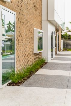 Commercial Landscaping exposed aggregate concrete. Exposed Aggregate Concrete, Concrete Path, Commercial Landscaping, Paths, Colours, Landscape, Outdoor Decor, Home, Design