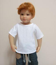 Fits 18 Inch Kidz 'n' Cats Dolls .. Boy Doll White Short Sleeve T-Shirt ... D091 by gailsvintagetreasure on Etsy https://www.etsy.com/listing/265897244/fits-18-inch-kidz-n-cats-dolls-boy-doll