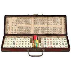 Painted Chinese Mahjong Set