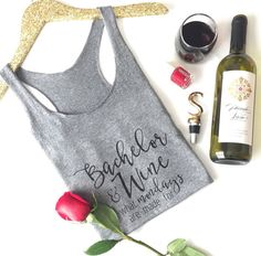 Mondays are hard enough to face as it is. Why not celebrate the best part of Monday with our fun Bachelor + Wine tank! Grab your girlfriends and a