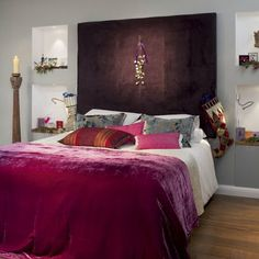 I love the headboard thingy.  Maybe for a canvas painting idea not fabric though.