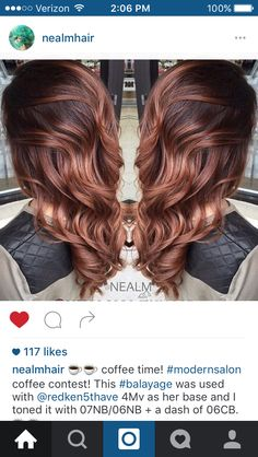 Copper brown bayalage...