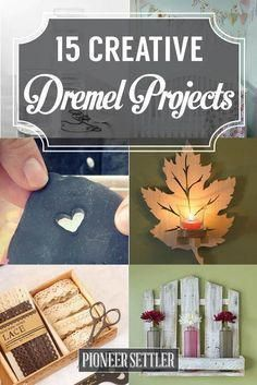 15 Awesome Dremel Projects - Before After DIY Diy Craft Projects, Fun Diy Crafts, Easy Woodworking Projects, Jar Crafts, Woodworking Tools, Project Ideas, Woodworking Furniture, Custom Woodworking, Popular Woodworking