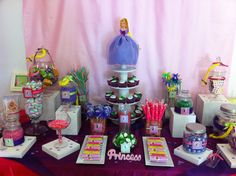 Rapunzel candy table.