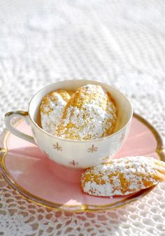 The classic French tea treat. Madelines… a cross between sponge cake and a cookie.
