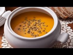 How to Make Easy Roasted Butternut Squash Soup - The Easiest Way --does anyone know of something non-dairy i can use to replace the heavy cream?