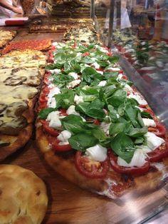 Pizza al taglio is a Roman treat