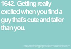 This needs to happen more often!! Being 5' 10'' has downfalls...