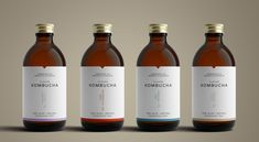 Bottle Mockup created these elegant product visuals for Clever Kombucha, a fermented tea brewed in Glasgow. The visuals were designed to compliment the brand& minimalist packaging design. Food Packaging Design, Beverage Packaging, Bottle Packaging, Bottle Mockup, Bottle Labels, Packaging Design Inspiration, Wine Labels, Coffee Packaging, Food Labels