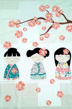 My Kimono Girls Quilt Kit