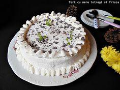 Rocsy in bucatarie: Tort cu mere intregi si frisca Cooking, Cake, Desserts, Food, Kitchen, Tailgate Desserts, Deserts, Food Cakes, Eten