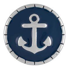 Product # S0666 Seafarer Snap  Seafarer Snap. Enamel. 18mm size. Price: $8.99  #anchorjewelry, #beachwear, #snapjewelryseller Seafarer, Beach Wear, Girls Night, Bag Accessories, The Originals, Cool Stuff, Magnolia, Bling Bling, Enamel