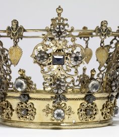 Close up of SWEDISH WEDDING CROWN (early 18th century), Provenance: Walters Art Museum, 1978