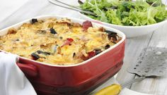 Savoury Ham and Chargrilled Vegetable Bake