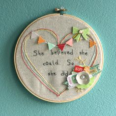 She Believed - by Leah Farquharson using Dear Lizzy Neapolitan from American Crafts.