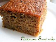 The Inner Gourmet: A West Indian Christmas Fruit Cake. No dried fruits and rum not wine