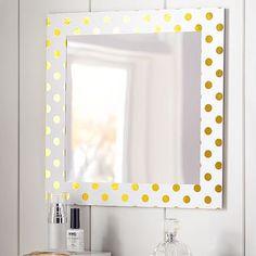 Paper Border Mirror, Gold Dot #pbteen
