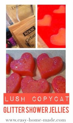 DIY Lush Inspired Recipes - Lush Copycat Glitter Shower Jellies - How to Make Lush Products like Bath Bombs, Face Masks, Lip Scrub, Bubble Bars, Dry Shampoo and Hair Conditioner, Shower Jelly, Lotion, Soap, Toner and Moisturizer. Copycat and Dupes of Ocean Salt, Buffy, Dark Angels, Rub Rub Rub, Big, Dream Cream and More. http://diyprojectsforteens.com/diy-lush-copycat-recipes