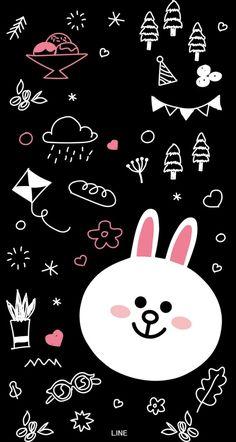 Rabbit and dream Lines Wallpaper, Phone Wallpaper Images, Cool Wallpapers For Phones, Cute Wallpaper For Phone, Bear Wallpaper, Cute Disney Wallpaper, Kawaii Wallpaper, Cute Wallpaper Backgrounds, Galaxy Wallpaper