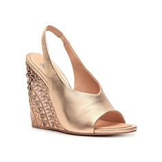 Ivy Kirzhner Ark Metallic Leather Wedge Sandal