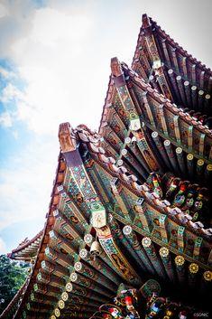 단양 구인사와 사람들....그리고 단청 : 네이버 블로그 Korean Image, Korean Art, Asian Art, Korean Style, South Korea Seoul, Cebu City, Roof Detail, Korean Traditional, Old Building