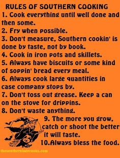 Southern Cooking  rule