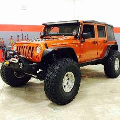 Jeep Pickup, Jeep 4x4, Jeep Truck, Orange Jeep, Jeep Scout, Badass Jeep, Dodge Power Wagon, Custom Jeep, Cool Jeeps