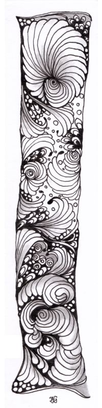 bladwijzer 9 Tribal Tattoos, Zentangle, Bookmarks, Zentangle Patterns, Marque Page, Zentangles