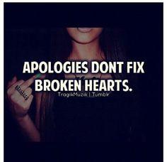 Amen!  Especially empty apologies.  CL