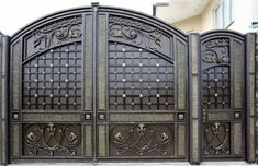 Modern Main Gate Designs, Iron Main Gate Design, Home Gate Design, House Main Gates Design, Steel Gate Design, Front Gate Design, Fence Design, Door Design, Metal Gates
